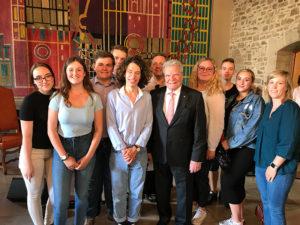 SchülerInnen der Oberstufe treffen Anita Lasker-Wallfisch und Altbundespräsident Joachim Gauck