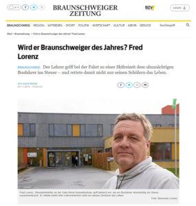 Braunschweiger des Jahres 2019, Fred Lorenz ist nominiert!