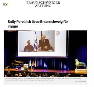 Sally Perel erhält Ehrenbürgerwürde der Stadt Braunschweig